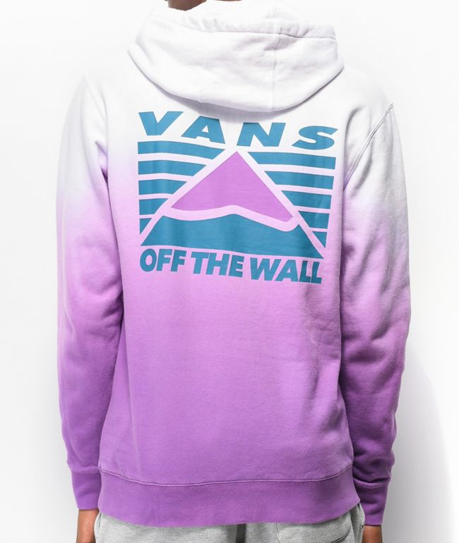 Vans Hi-Point Purple & White Dip Dye Hoodie