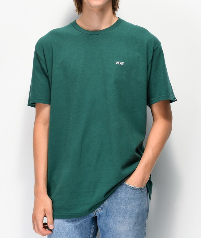 Vans Left Chest Logo Green T Shirt Zumiez