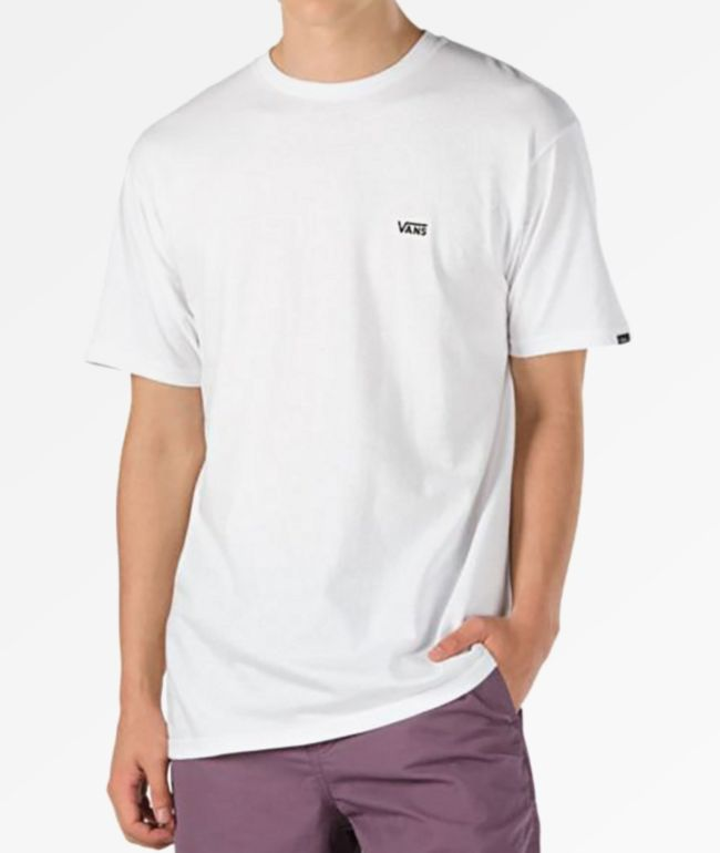 Vans Left Chest Logo White T Shirt Zumiez Ca