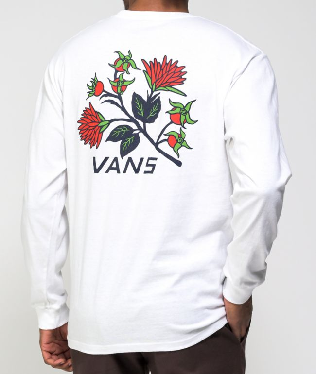 Vans Low Point Floral White Long Sleeve T-Shirt