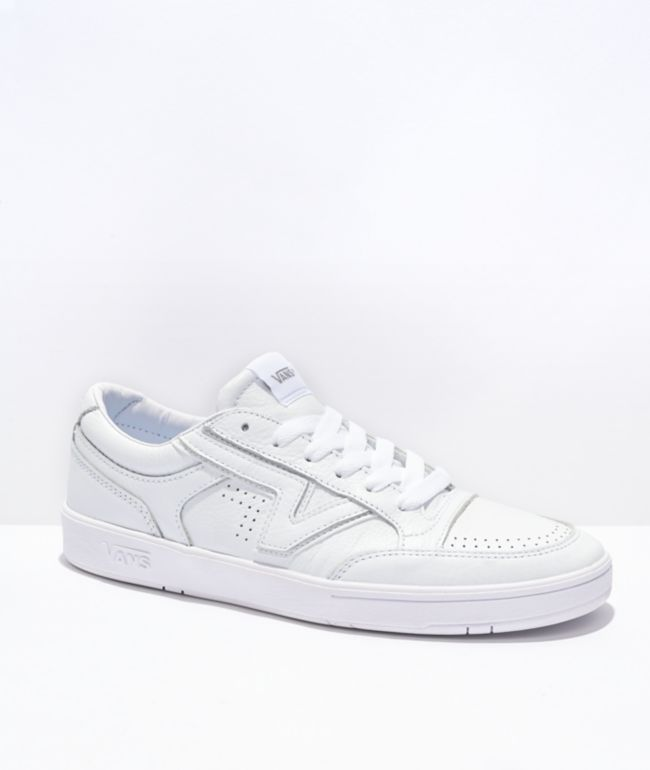 Vans Lowland ComfyCush Leather White Skate Shoes
