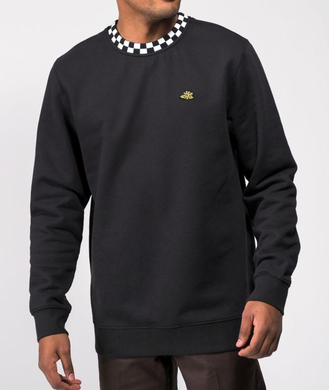 Vans Micro Dazed Black Crewneck Sweatshirt