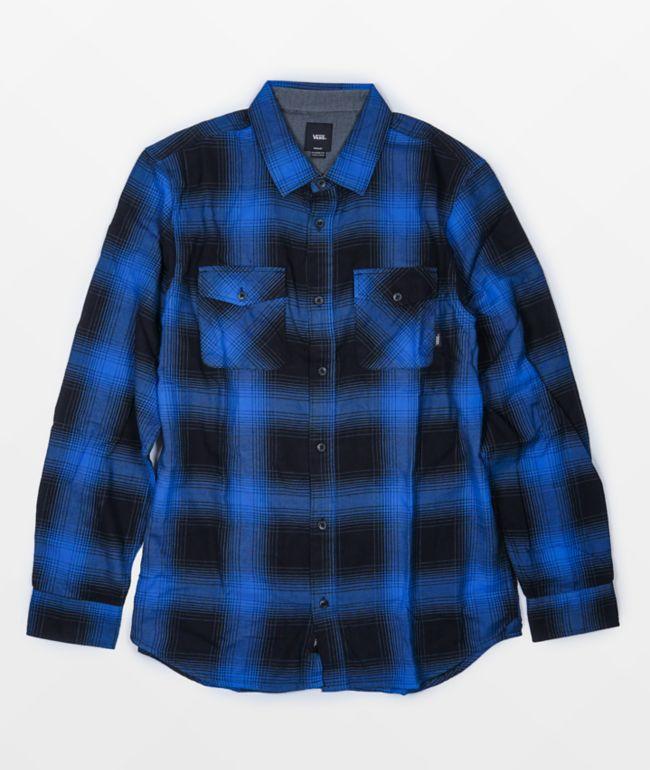 Vans Monterey III Black & Blue Flannel Shirt