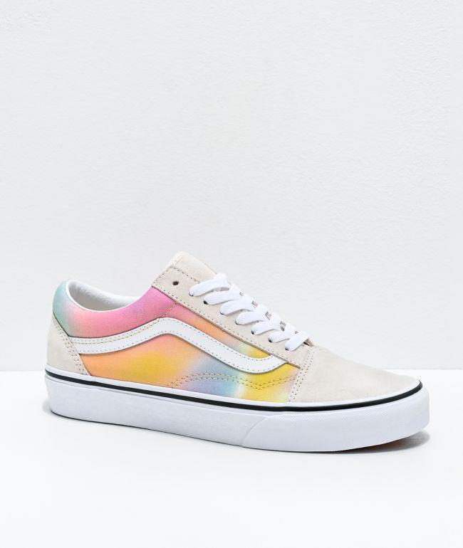 Vans Old Skool Aura Shift & White Skate Shoes