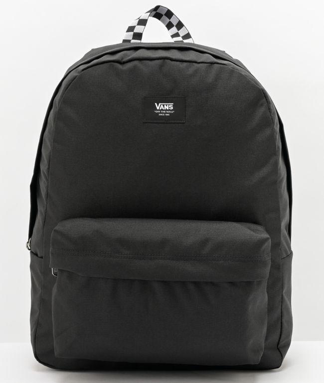Vans Old Skool Black & Checkerboard Webbed Backpack