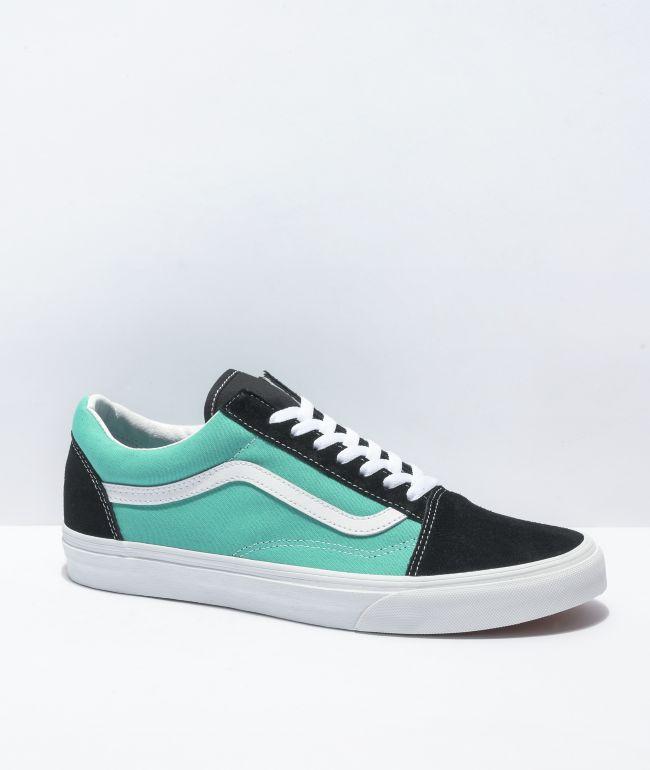 Vans Old Skool Black & Waterfall Skate Shoes