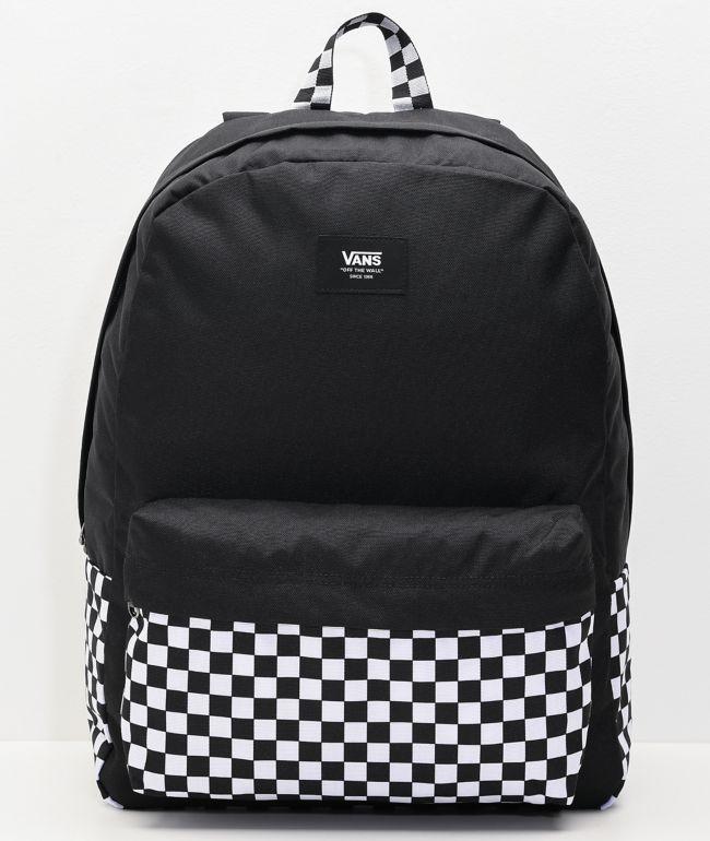 Vans Old Skool Black & White Checkerboard Backpack