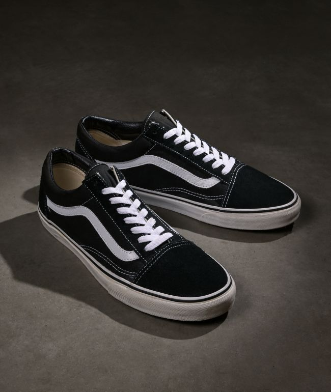 Vans Old Skool Checkerboard White Skate Shoes   Zumiez
