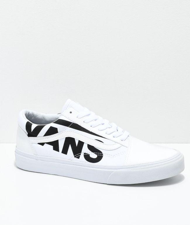 Vans Old Skool Black Logo White Skate