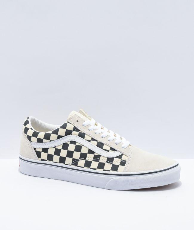 Vans Old Skool Checkerboard White Skate
