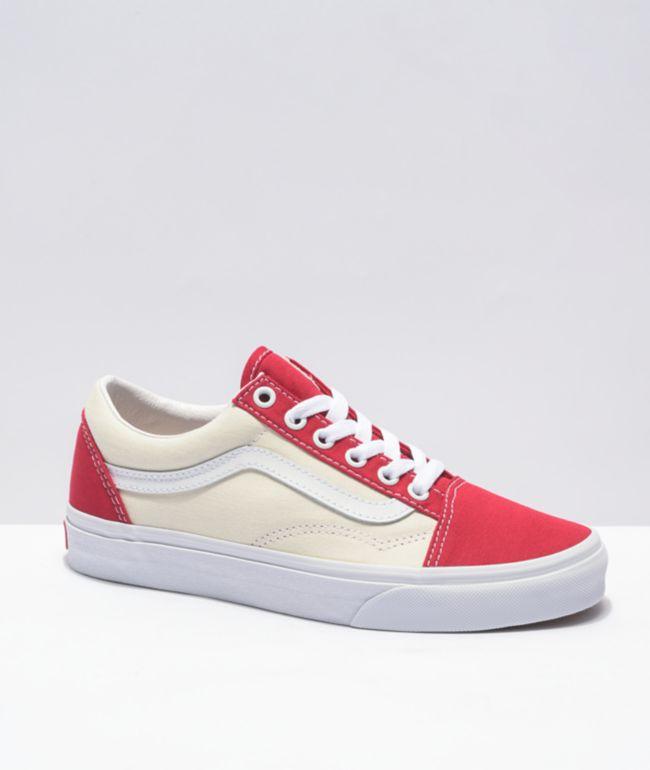 Vans Old Skool Chili Pepper & White Skate Shoes