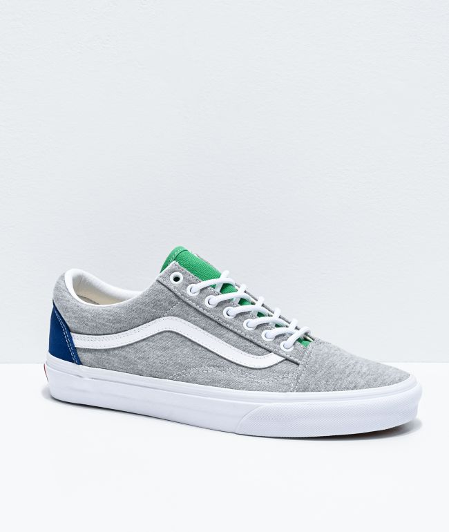 Vans Old Skool Coastal Grey & White Skate Shoes
