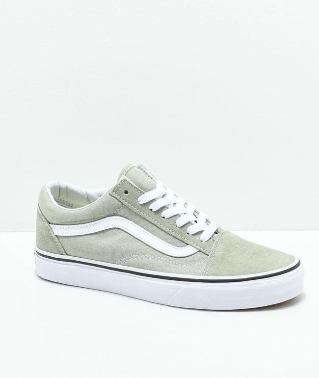 Vans Old Skool Desert Sage \u0026 True White