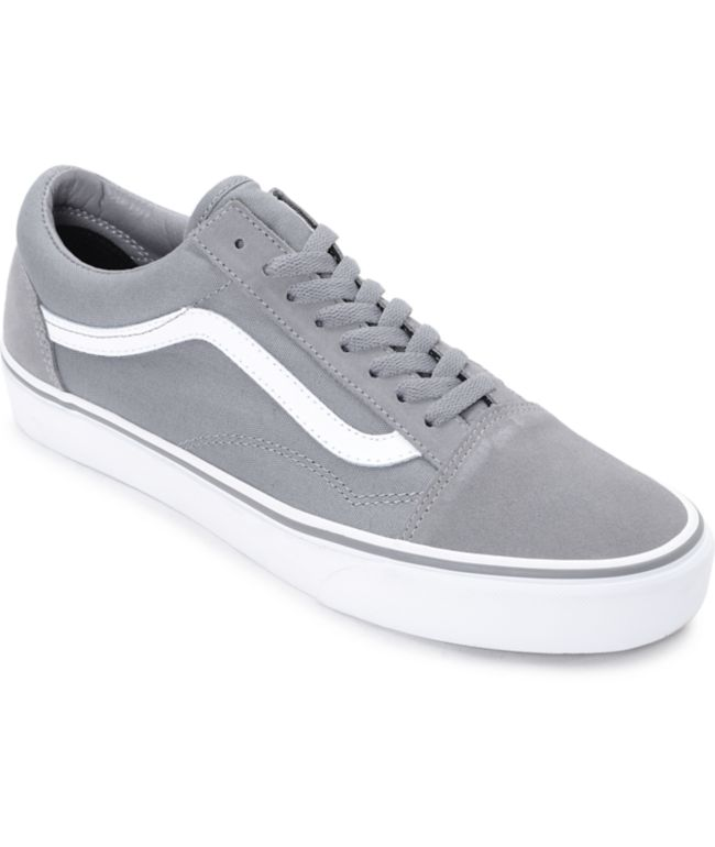 Vans Old Skool Frost Grey & True White Skate Shoes