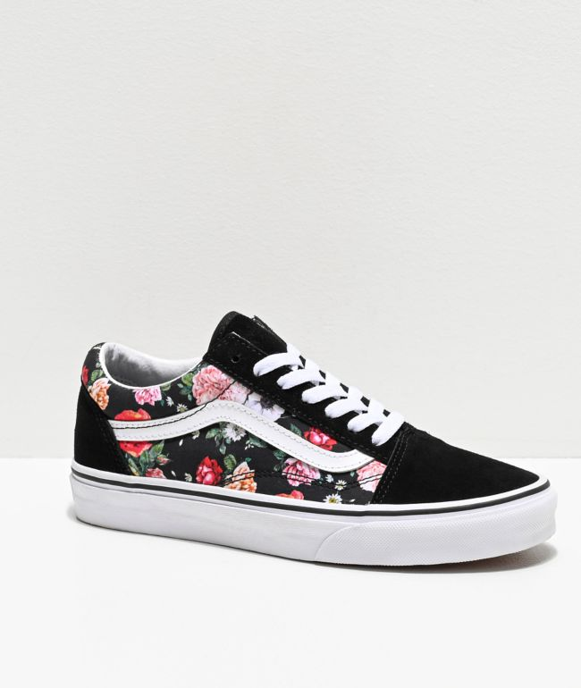 Vans Old Skool Garden Floral & Black Skate Shoes
