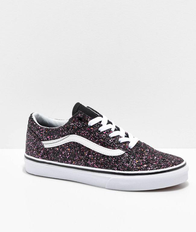 Vans Old Skool Glitter Star Black Skate