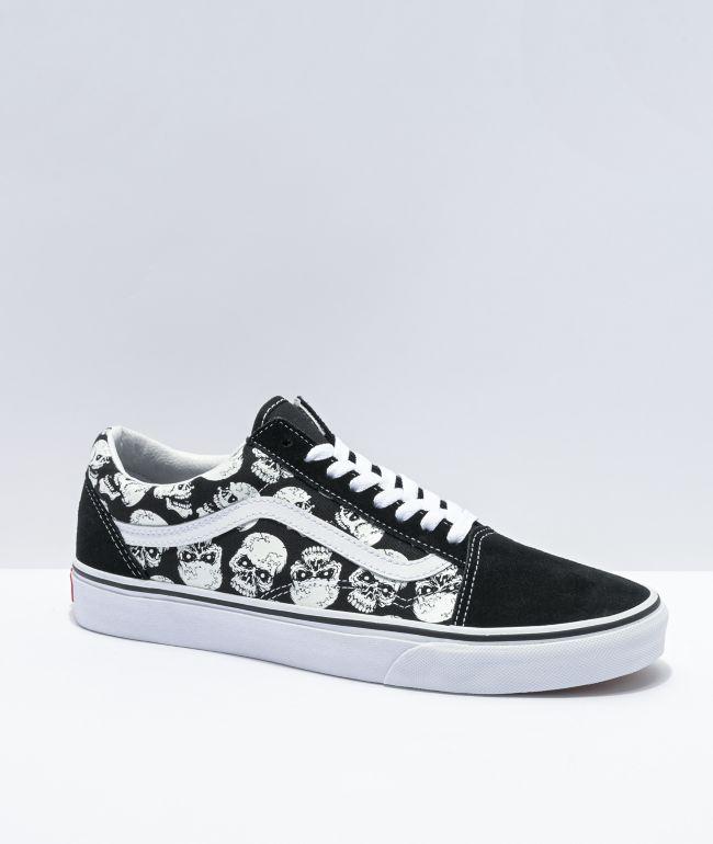 Vans Old Skool Glow-In-The-Dark Skulls Skate Shoes