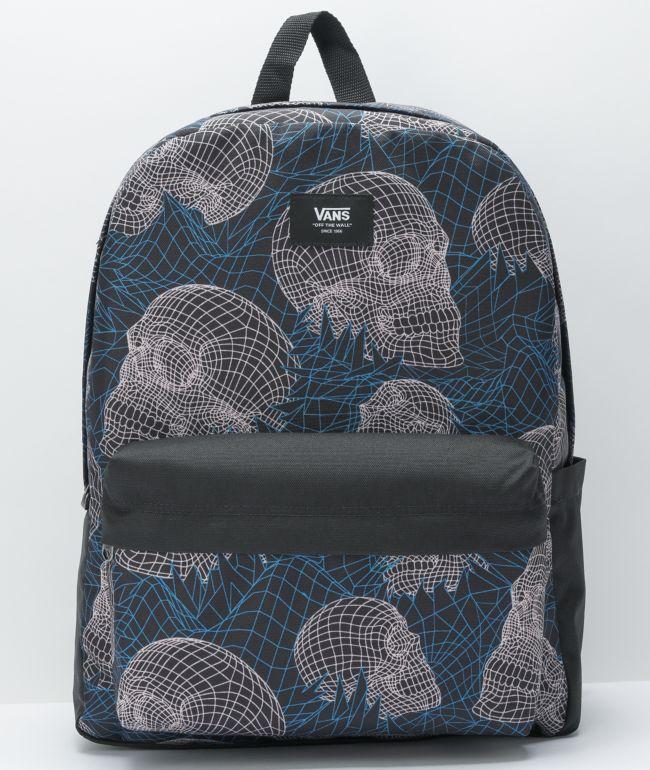Vans Old Skool H20 Wireframe Skull Backpack