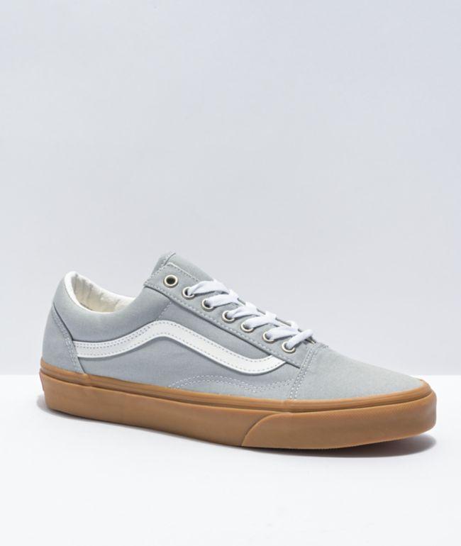 Vans Old Skool High Rise Grey, White, & Gum Skate Shoes