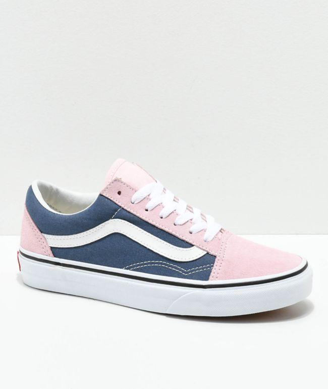 Vans Old Skool Indigo \u0026 Chalk Pink