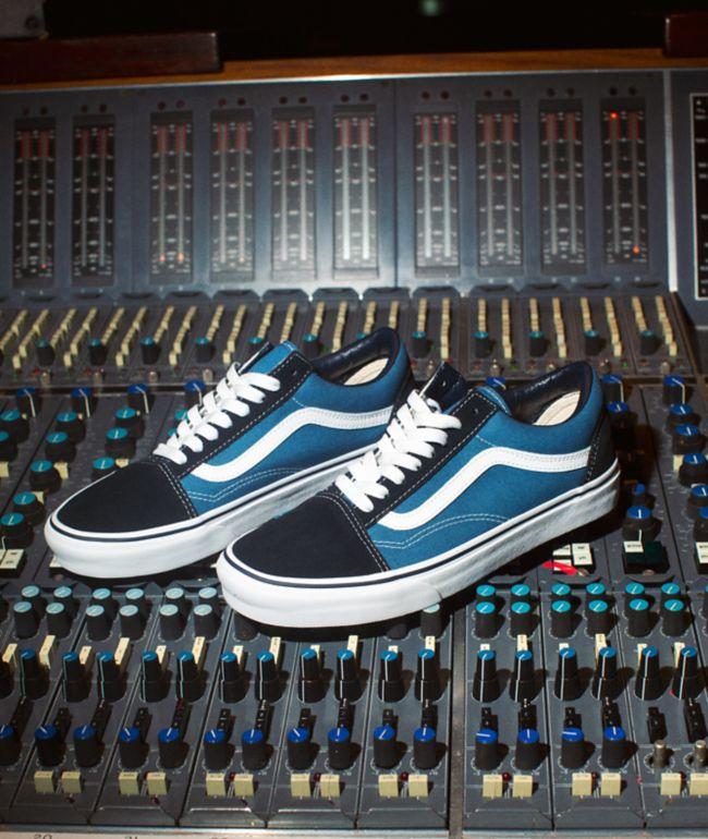 Vans Old Skool Navy Skate Shoes | Zumiez