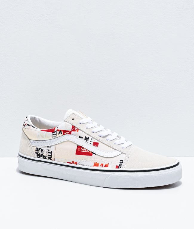 Vans Old Skool Packing Tape White Skate Shoes