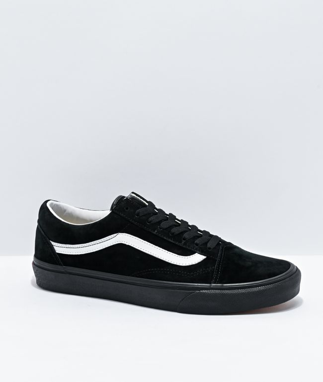 Vans Old Skool Pig Suede Black & White Skate Shoes