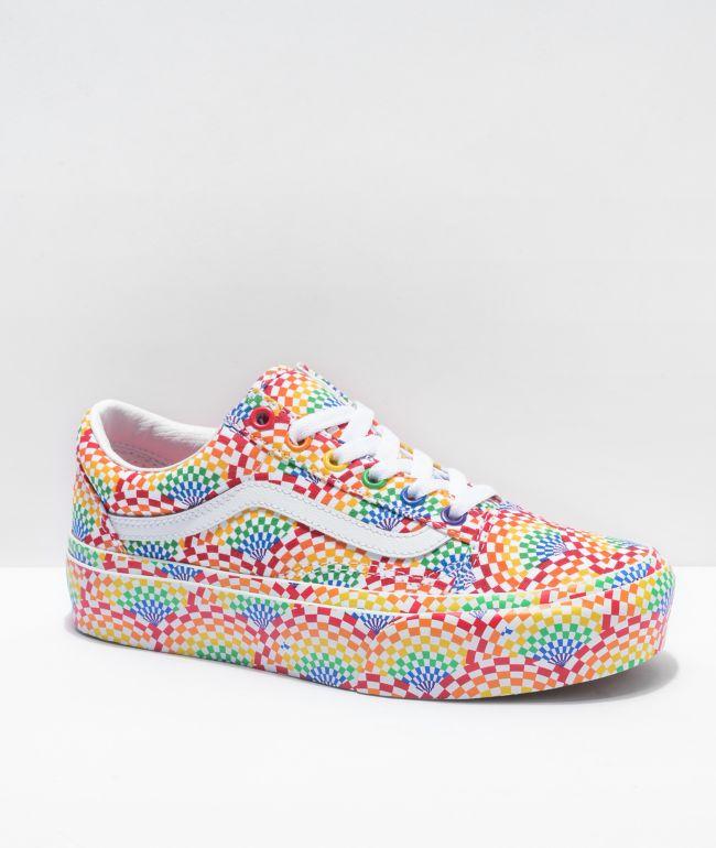 Vans Old Skool Pride Platform Shoes