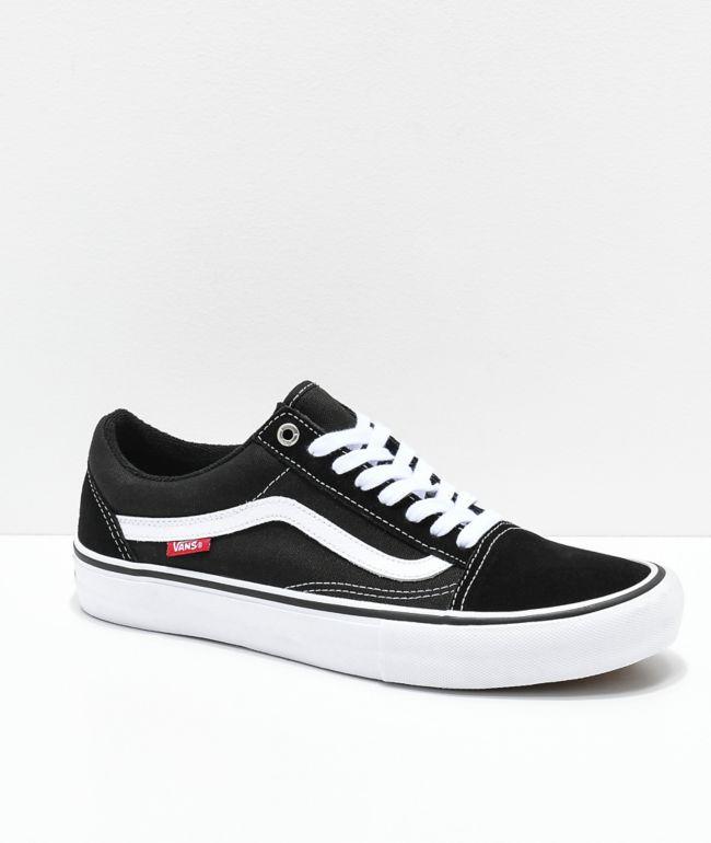 Vans Old Skool Pro Black \u0026 White Skate