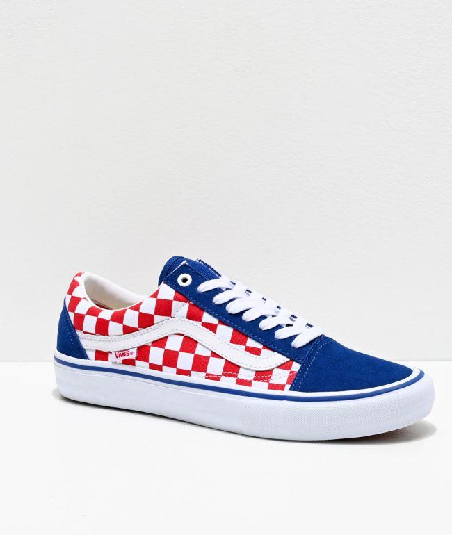 Vans Old Skool Pro Blue, Red \u0026 White