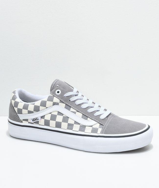 Vans Old Skool Pro Grey Checker \u0026 White