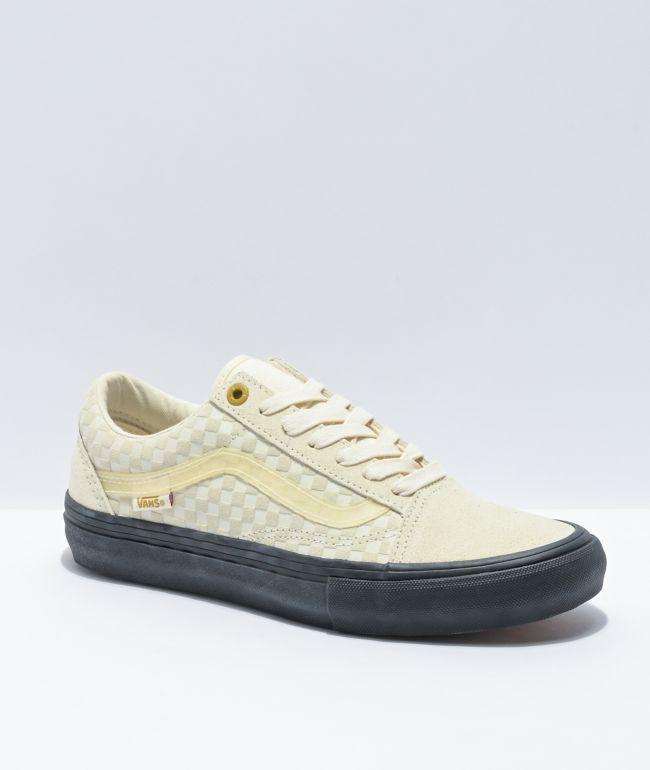 Vans Old Skool Pro Lizzie Antique White & Black Skate Shoes