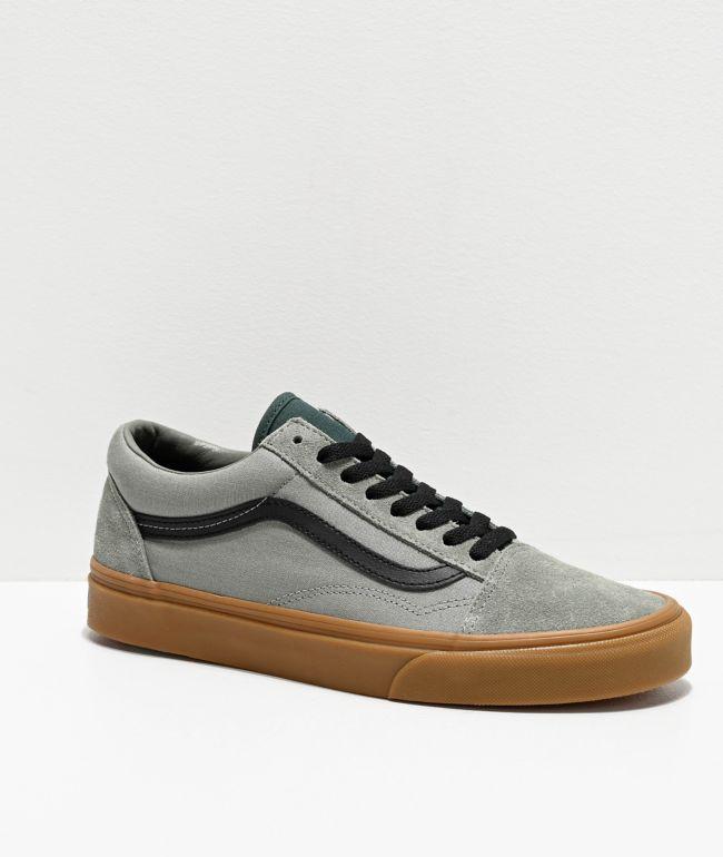 Vans Old Skool Shadow Green \u0026 Gum Skate