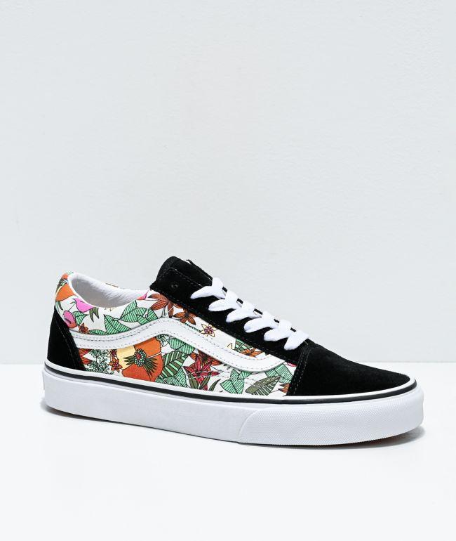 Vans Old Skool Tropic zapatos de skate multicolor, negros y blancos