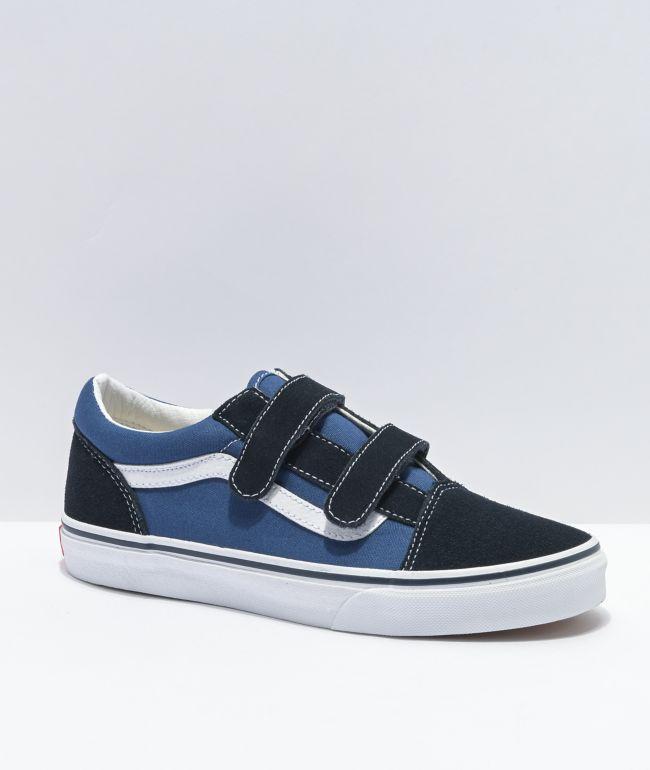 Vans Old Skool V Navy Skate Shoes