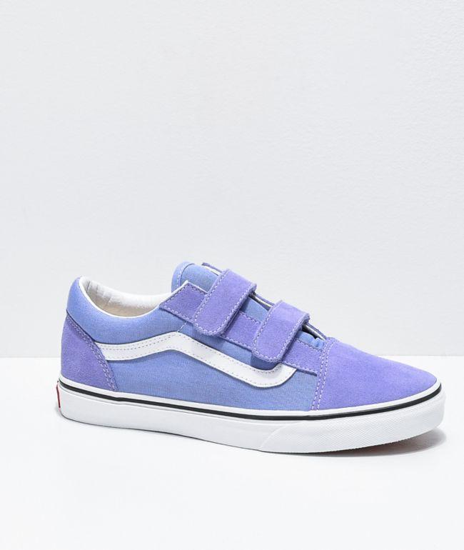 Vans Old Skool V Pale Iris & True White Skate Shoes