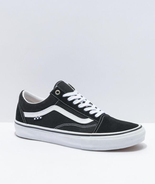 Vans Old Skool zapatos de skate blancos y negros