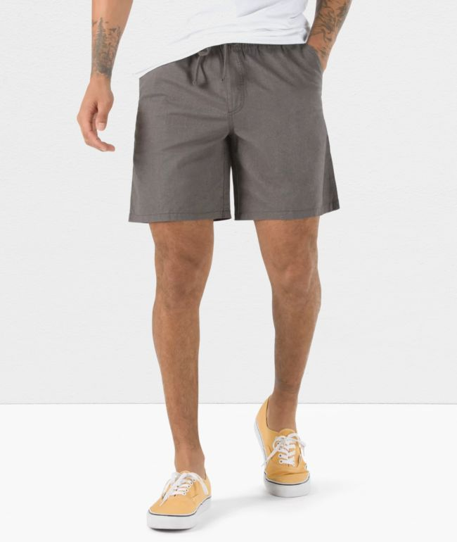 Vans Range Heather Gravel Elastic Waist Shorts
