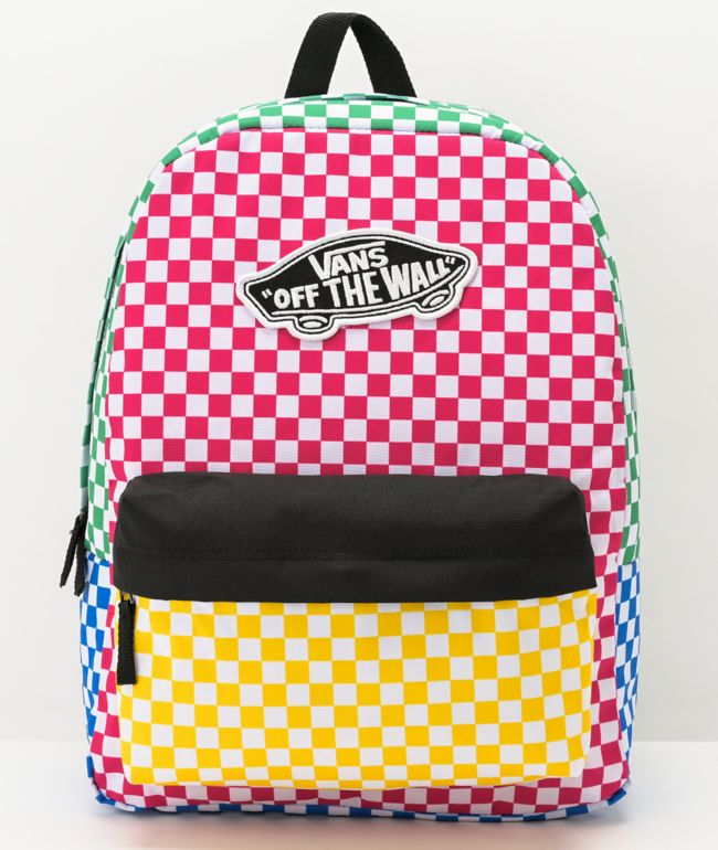 Vans Realm Checker Block Backpack