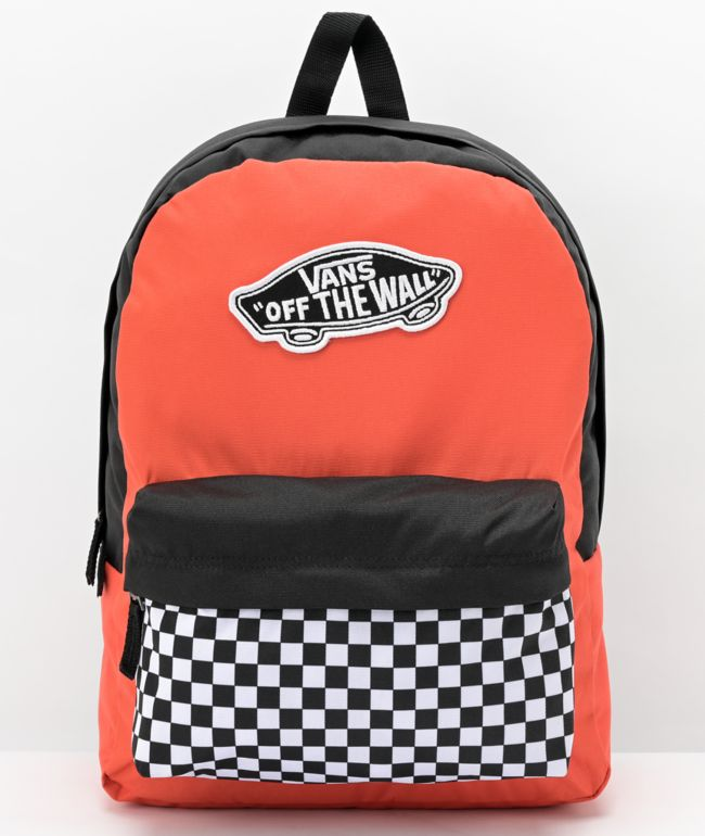 Vans Realm Paprika & Checkerboard Backpack