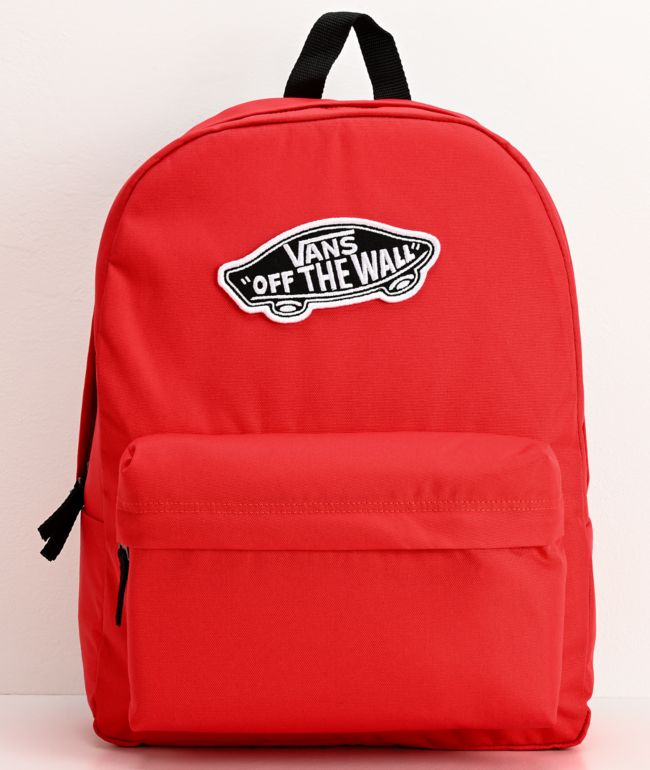 Vans Realm Poppy Red Backpack