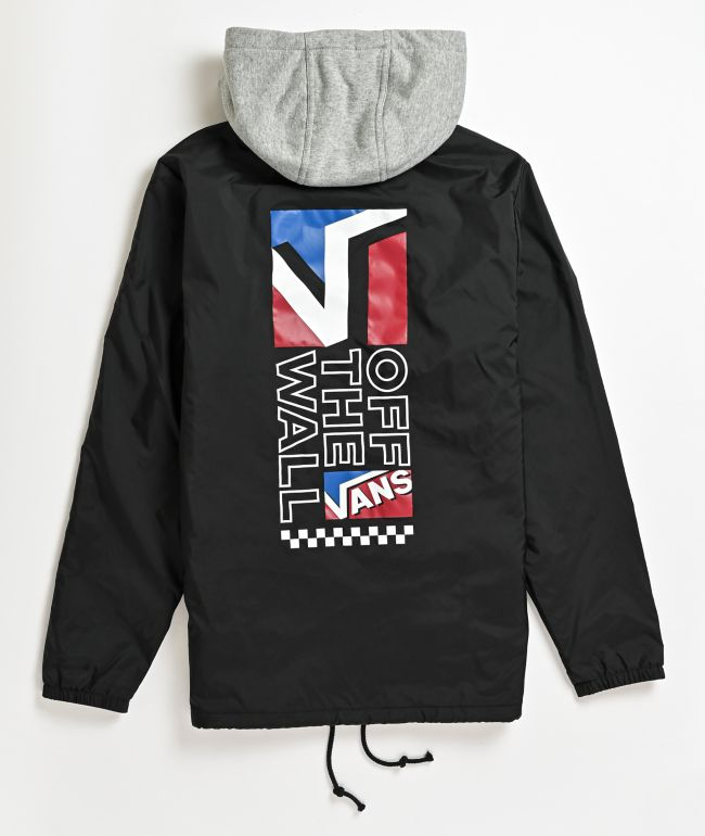Vans Riley Black Hooded Coaches Jacket