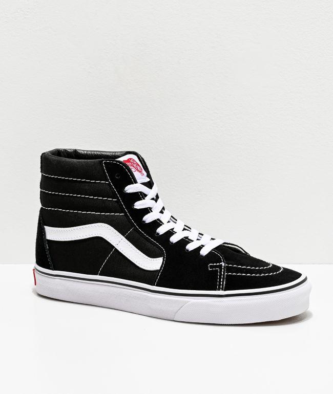 Vans SK8 Hi zapatos de skate en blanco y negro