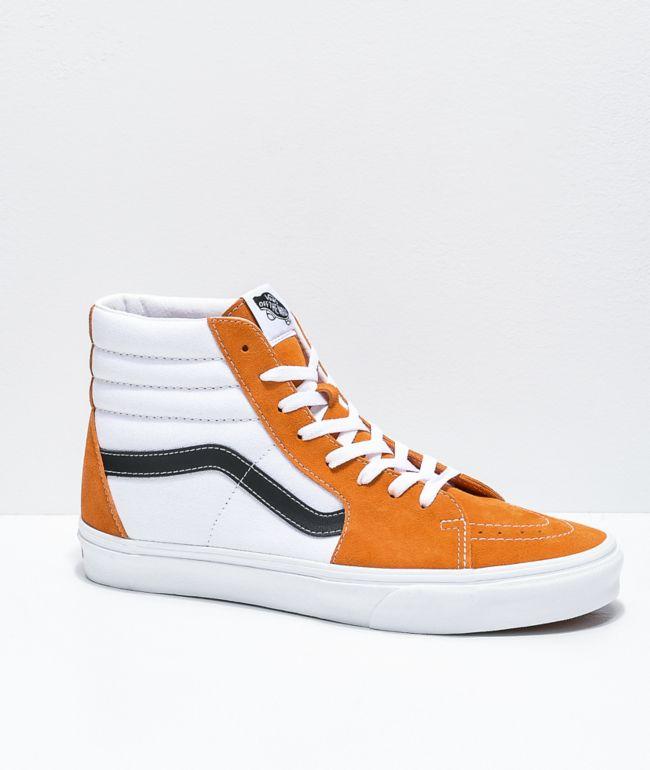 Vans Sk8-Hi Apricot Orange, White