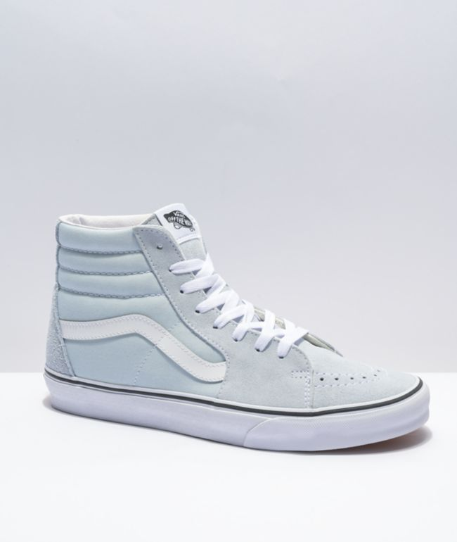 Vans Sk8-Hi Ballard Blue & White Skate Shoes