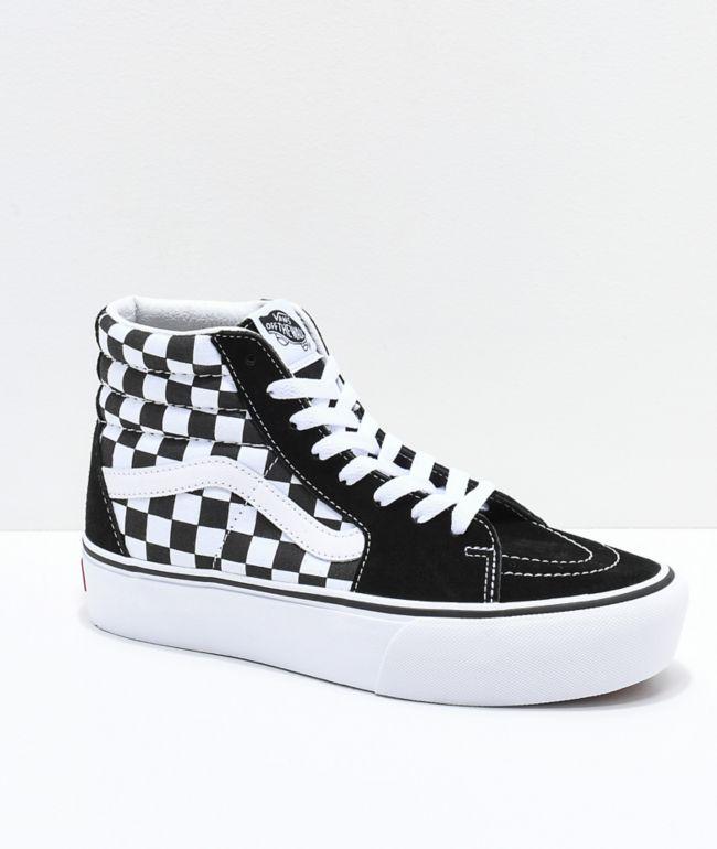 black n white checkered vans