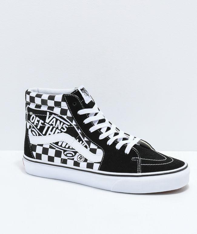 Vans Sk8-Hi Checkerboard Patch Black