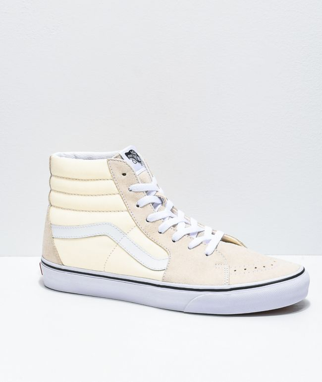 Vans Sk8-Hi Classic White & True White Skate Shoes