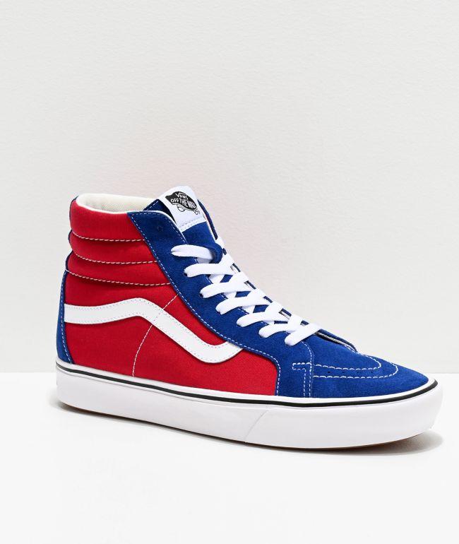 Vans Sk8-Hi ComfyCush Red Chili \u0026 Blue