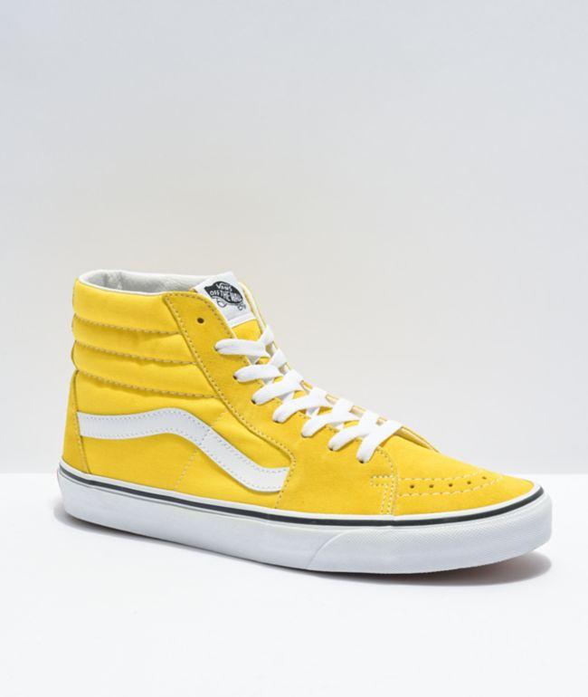 Vans Sk8-Hi Cyber Yellow & White Skate Shoes